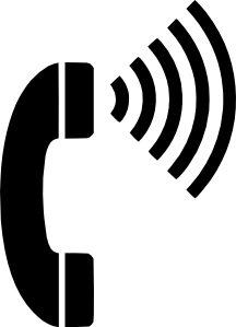 image black and white library Call clipart phone handset. Volume telephone clip art