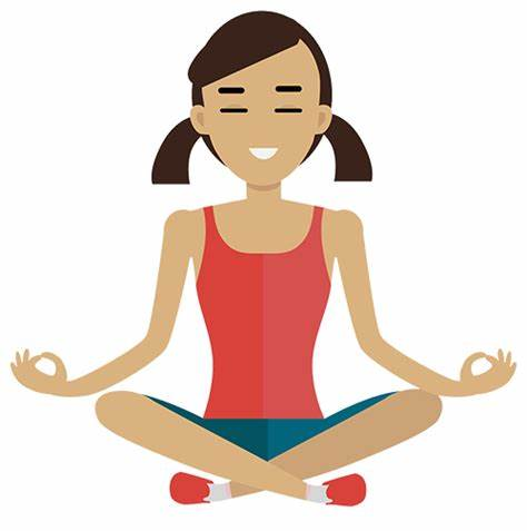 clipart royalty free library Calm clipart. Yoga x free clip