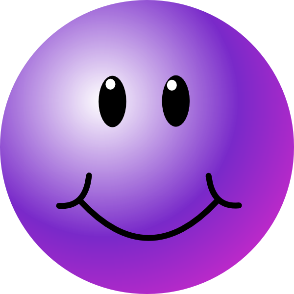 svg stock Purple clip art smileyface. Toaster clipart smiley face