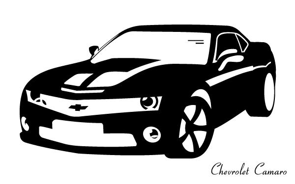 clip freeuse library Chevrolet free vectors . Camaro vector