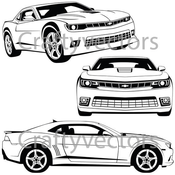 png black and white stock Chevrolet file . Camaro vector