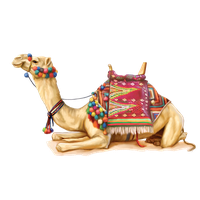jpg library Camel clipart decorated. Download free png photo.