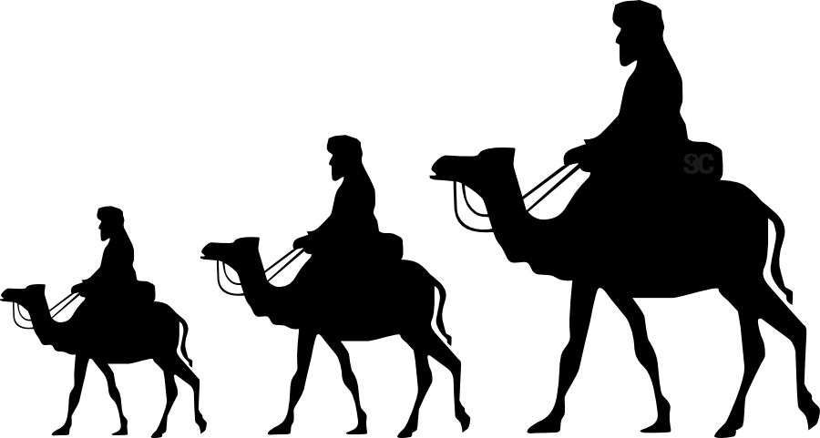 svg black and white library Feast of the Epiphany