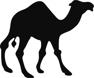 png Camel clipart nativity. Black and white panda.
