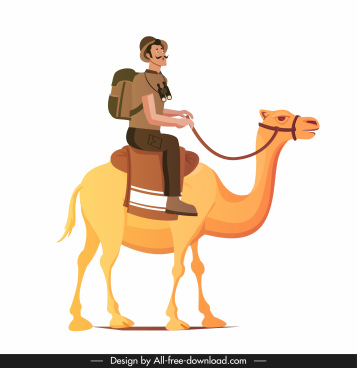clipart royalty free download Vector camels for free download about