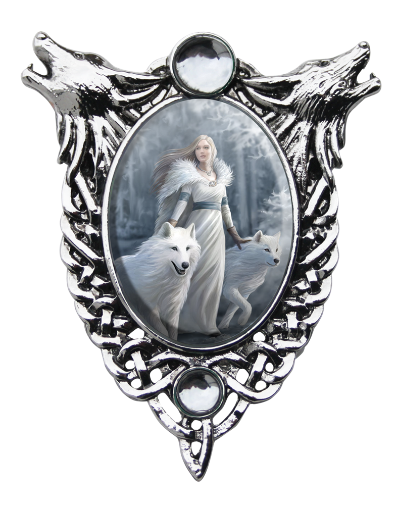jpg royalty free download Anne Stokes Winter Guardians Cameo