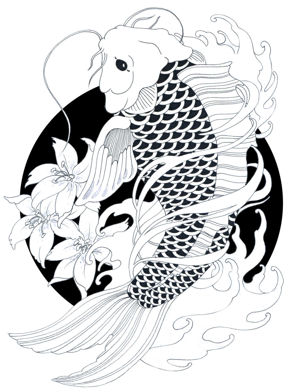 jpg royalty free library Koifish by ZakariasEatWorld