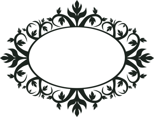 png black and white library Ornamental Oval Frame Vector Clip Art Public Domain Vectors