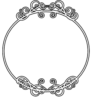 clip black and white library round circle border frame