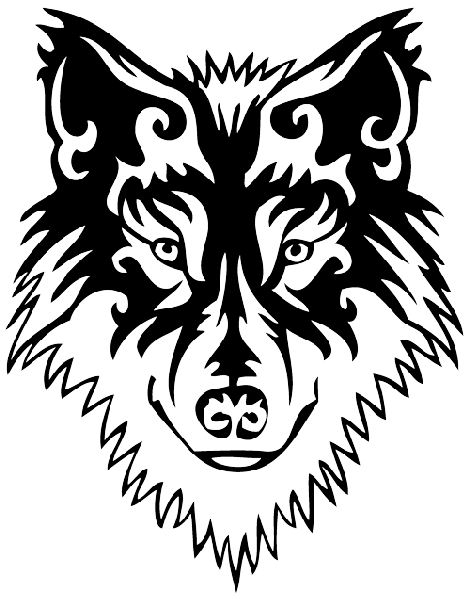 royalty free stock Wolf tattoos designs png. Drawing random tribal