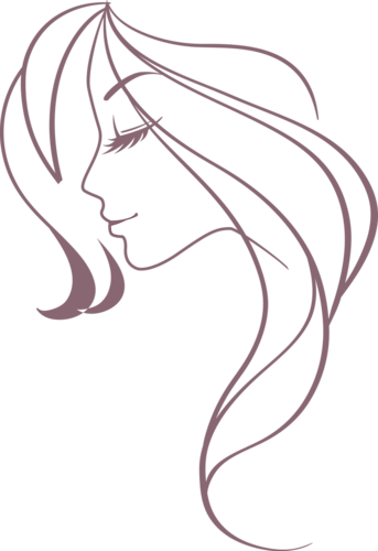 banner transparent cameo drawing woman #91200548