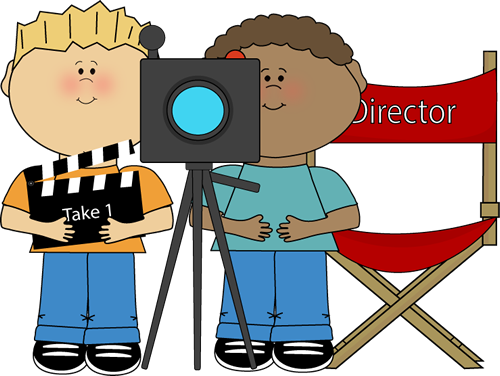 clip art free stock Write the room clipart. Kids directing behind movie
