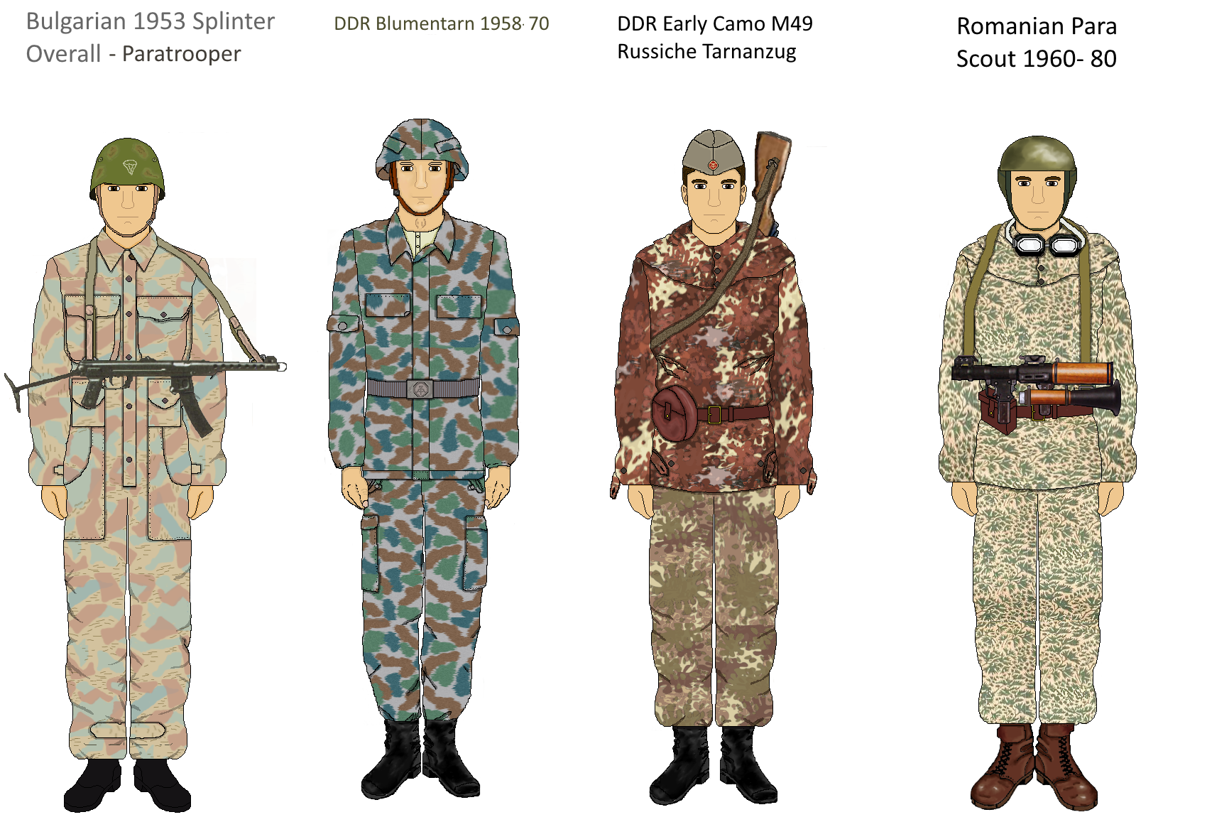 picture library stock Early Warsaw Pact camo Part