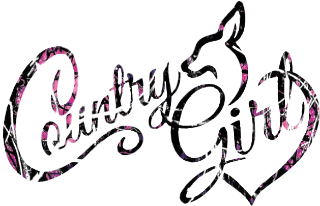 vector black and white library country girl pink camo browning buck doe