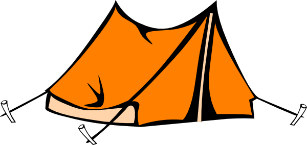 clip art transparent stock Camping tent black and. Camp clipart.