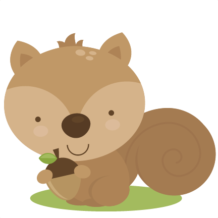 svg transparent library Woodland bear clipart. Cute squirrel svg cut