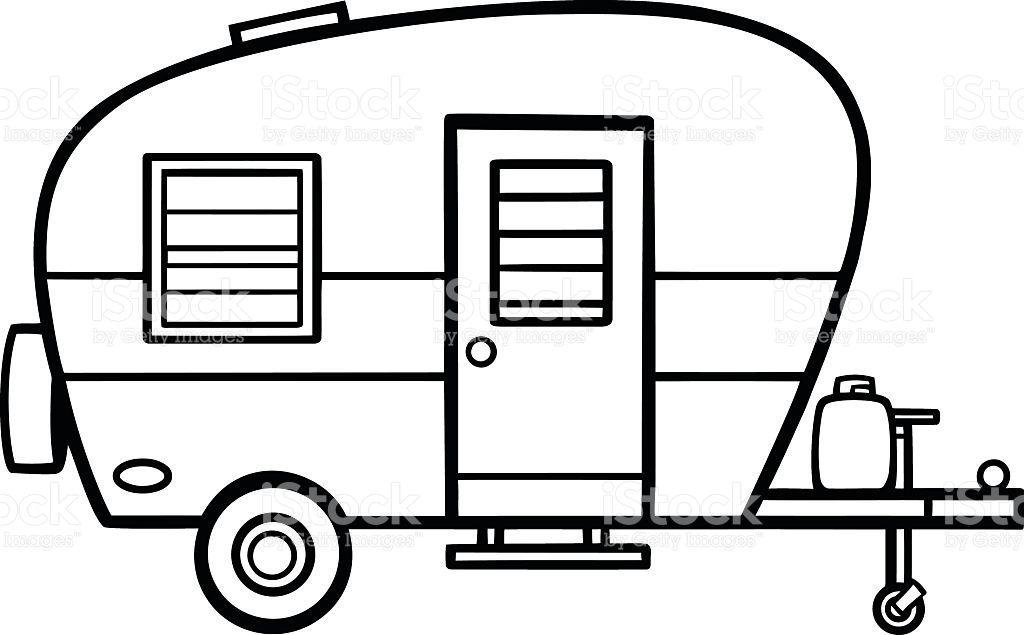 clipart transparent Image result for line. Camper clipart.