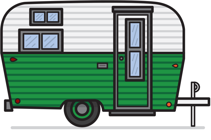 image free Free retro cliparts download. Camper clipart.