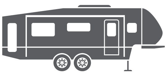 clipart black and white library Camper th free on. Fifth wheel clipart.