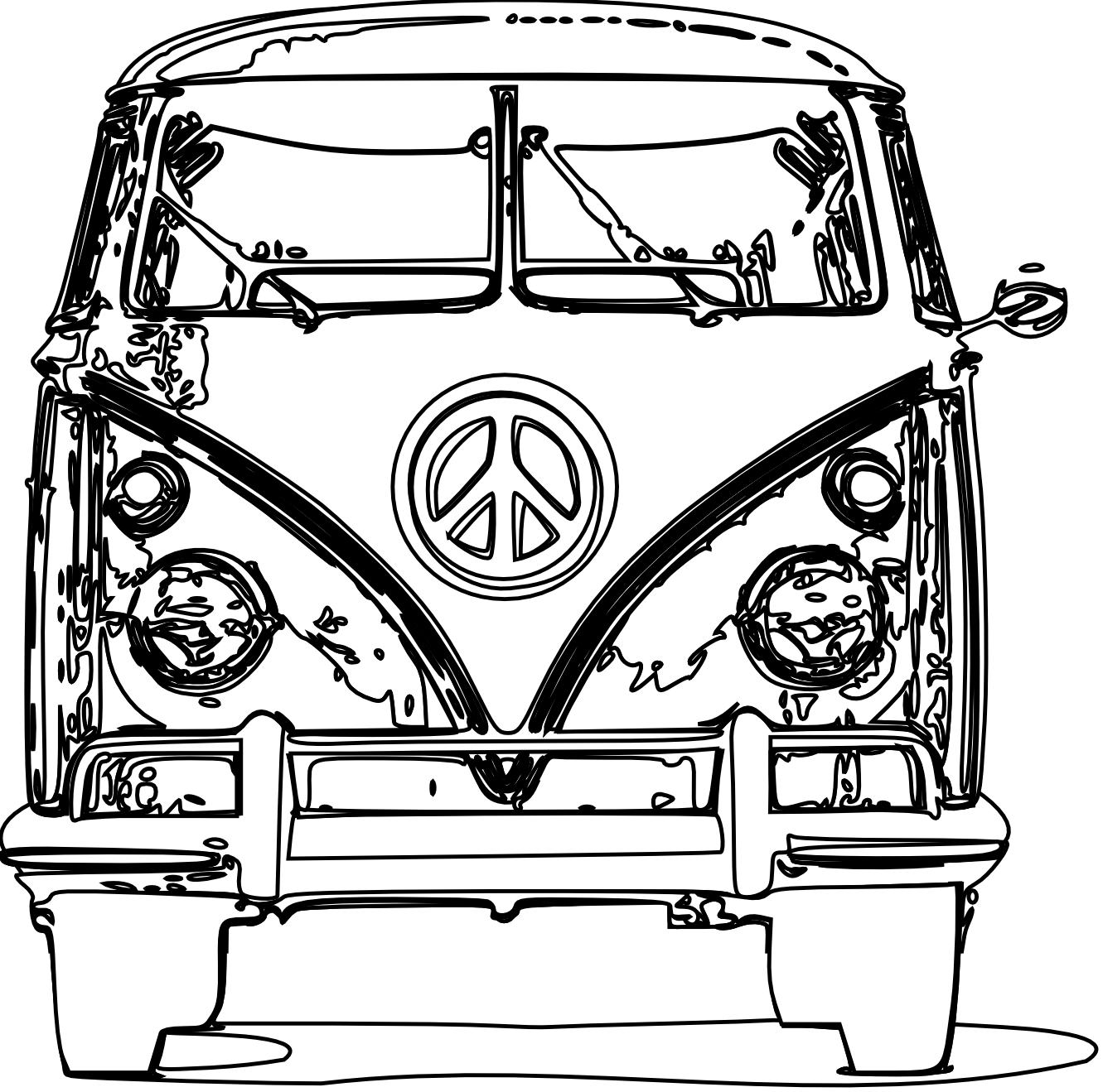 jpg freeuse download Camper clipart black and white. Art clip clipartist net