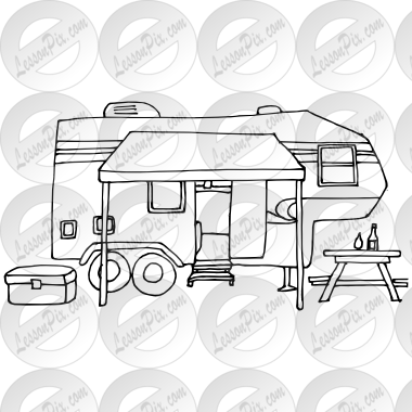 jpg black and white library Outline for classroom therapy. Camper clipart black and white