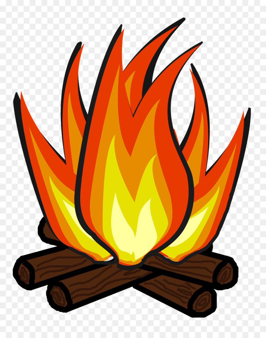transparent Cartoon bonfire camping . Campfire clipart.