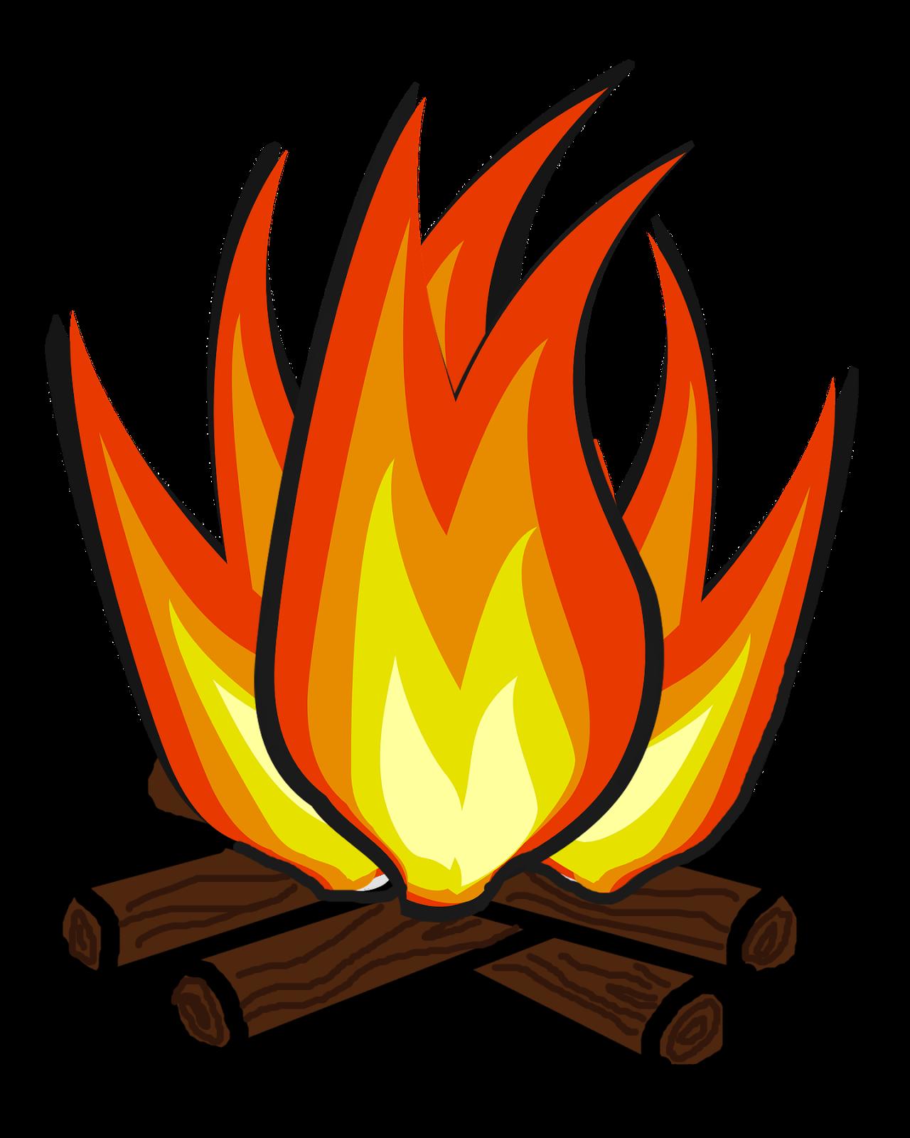banner black and white download June explore pictures clipartix. Campfire clipart.