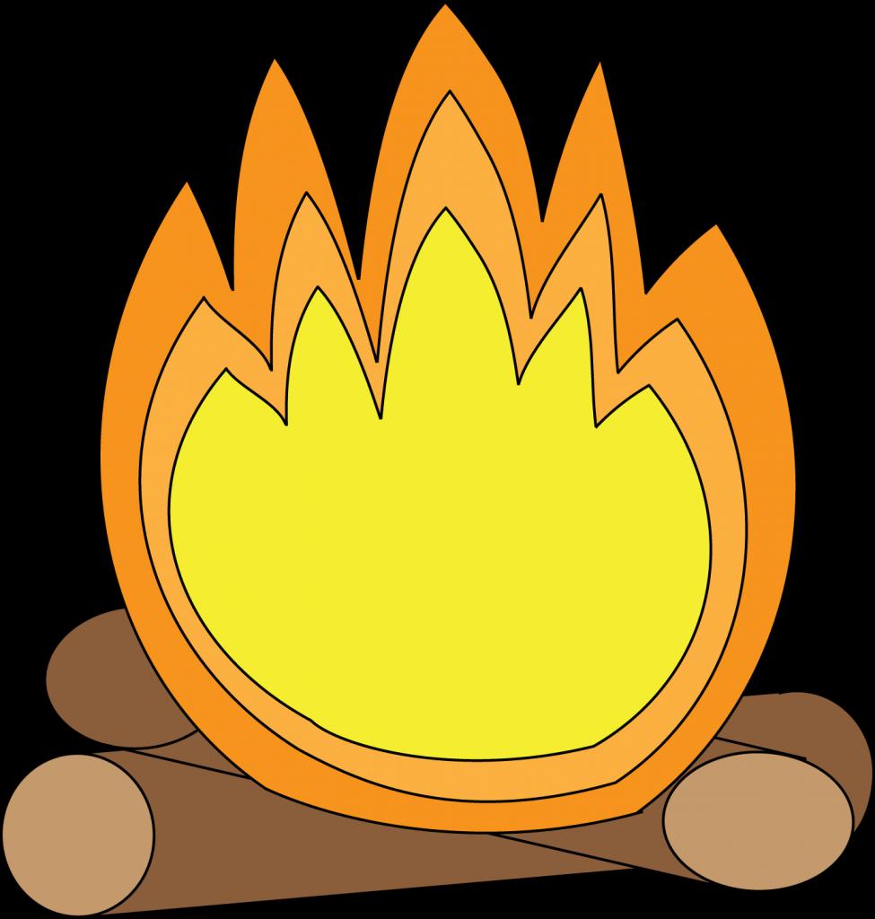 jpg royalty free library Cartoon camp fire image. Campfire clipart api.
