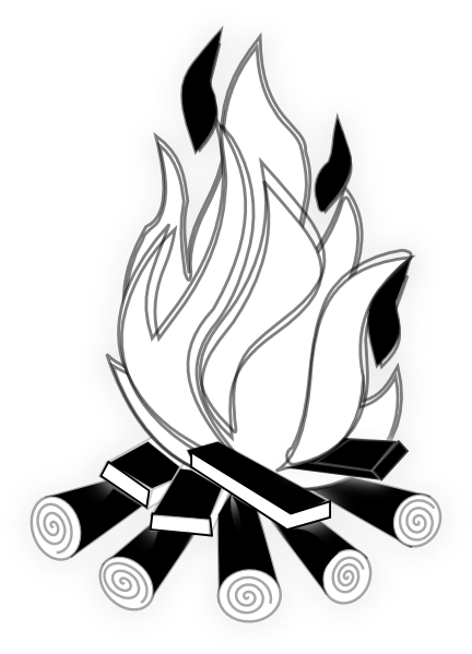 svg library library Fire camp hi png. Cornucopia black and white clipart