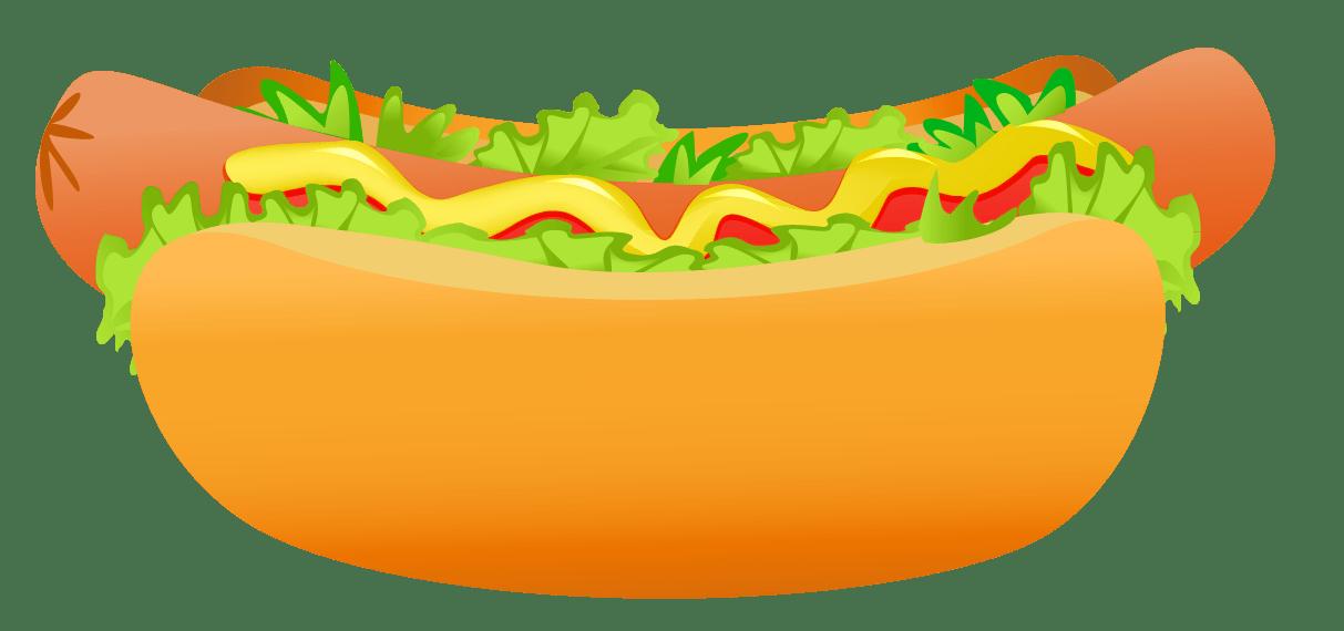 graphic freeuse Campfire clipart hotdog. Hot dog veg free.