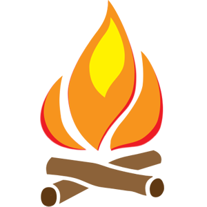 jpg library  collection of transparent. Campfire clipart icon.