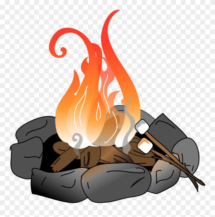 image transparent download Campfire marshmallow clipart. With marshmallows png download.