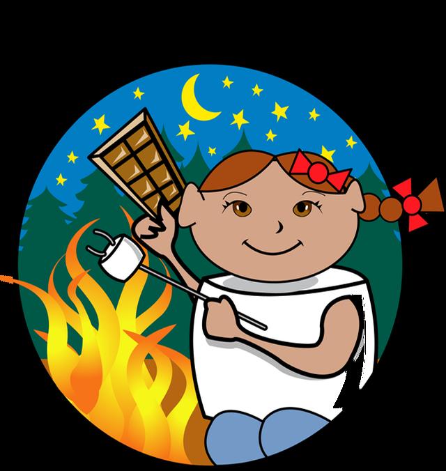 image freeuse Campfire Smores Clipart