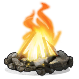 vector free download Camp Fire