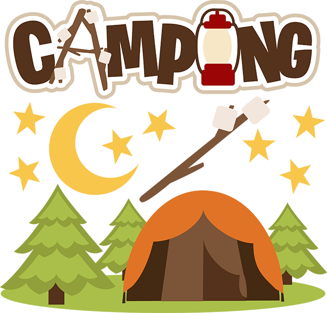 png black and white library Camping