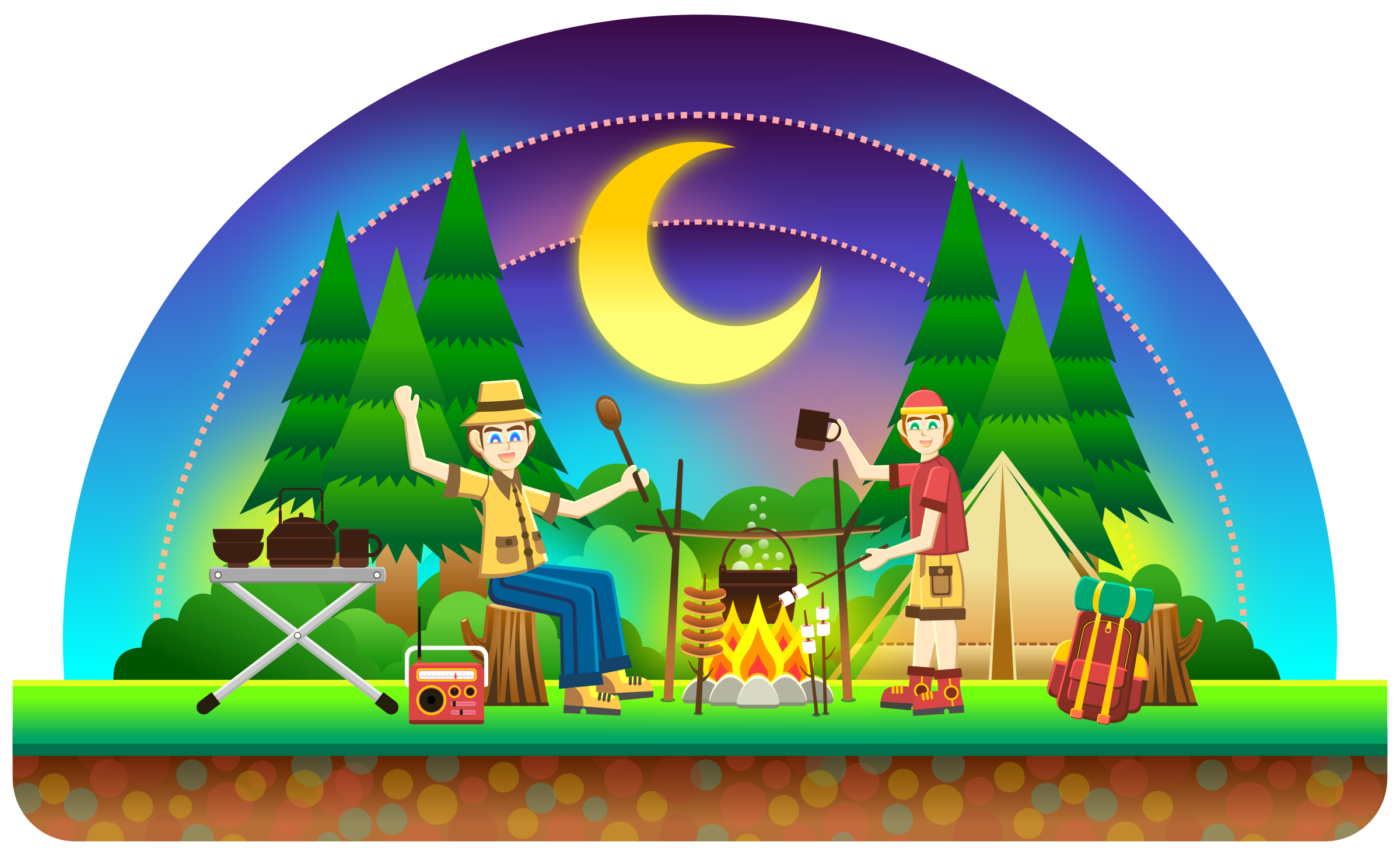 clip library download Big image png. Camping clipart camping scene.