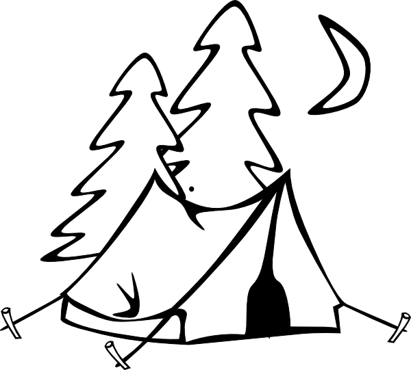 vector royalty free library Camping Tent Silhouette at GetDrawings