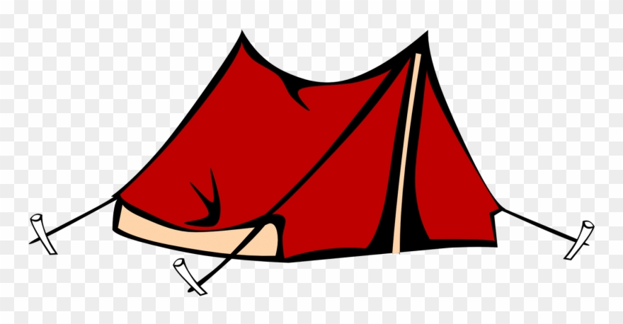 banner transparent library Camping tent clipart. Png download pinclipart