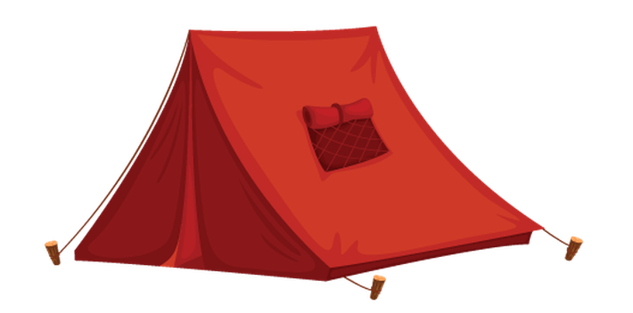 vector freeuse Camping tent clipart. Various objects of health