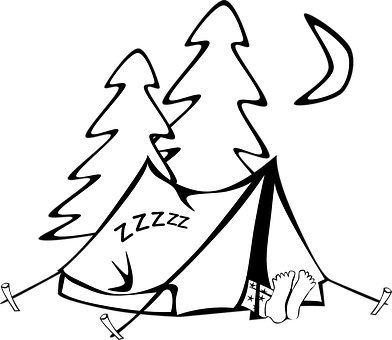 picture library stock Campsite Drawing at GetDrawings