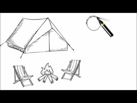 picture freeuse stock Hand drawn scene of Camping