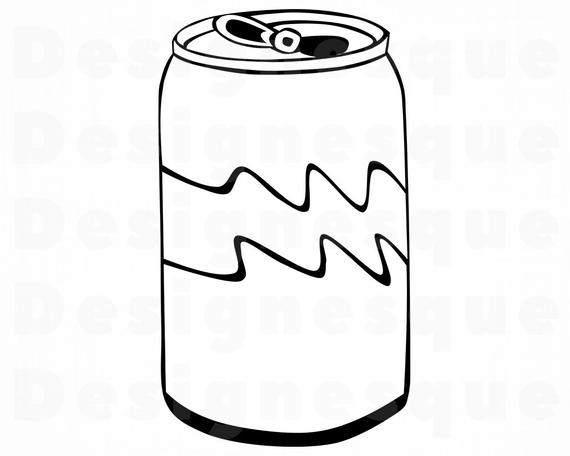 svg freeuse Can clipart. Soda svg files for