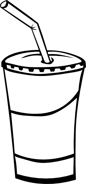 picture download Panda free images strawclipart. Soda clipart black and white