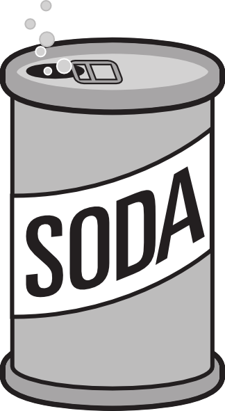 svg black and white stock Can clipart soda. Free cliparts download clip.