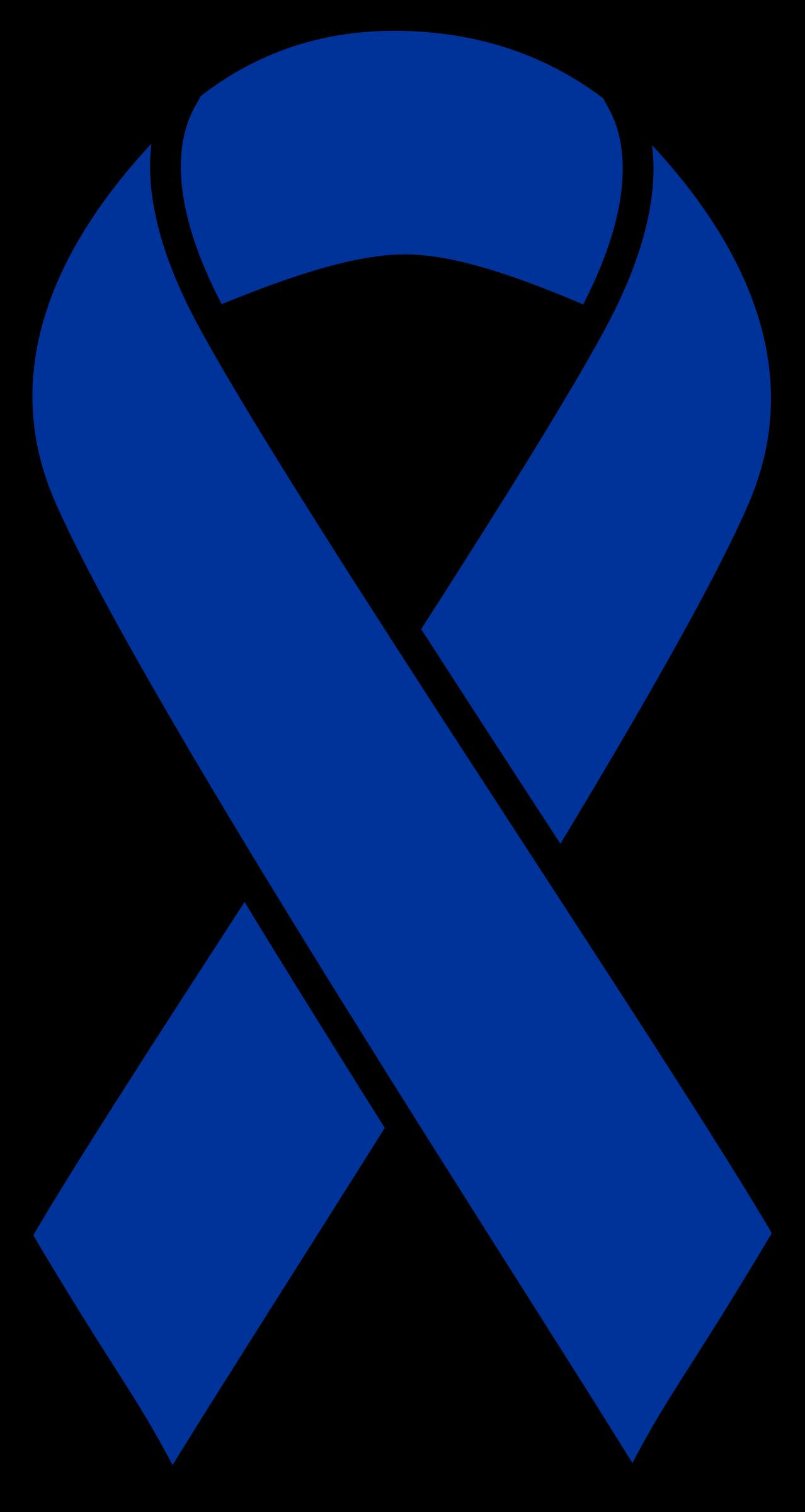 clip art black and white stock Cancer clipart. Blue colon ribbon big