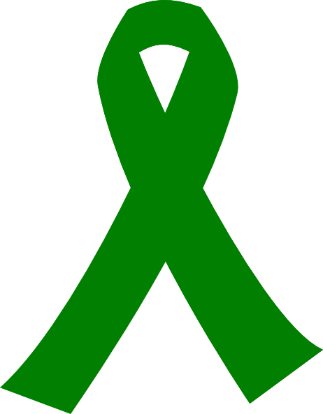 transparent Green ribbon at clker. Cancer clipart clip art.