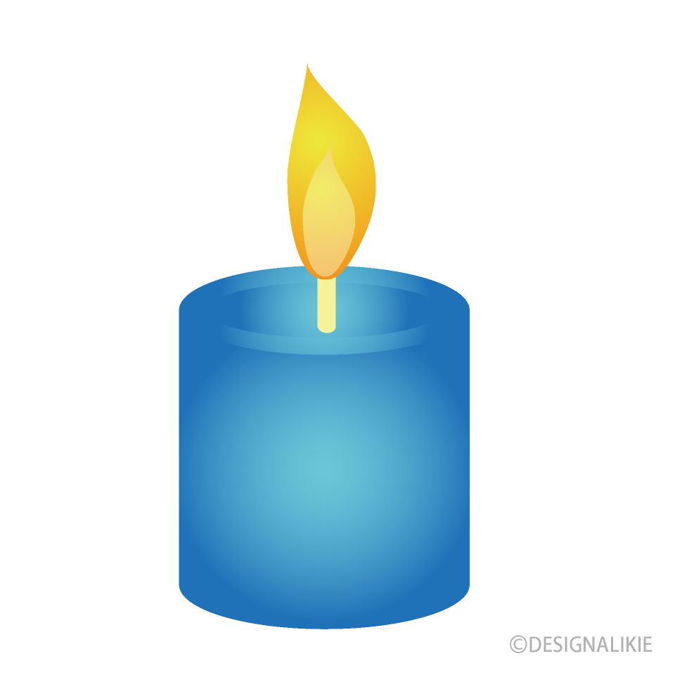clip transparent download Blue free picture illustoon. Candle clipart.