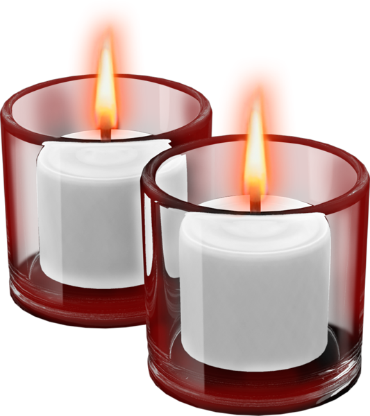 clip download Candle clipart. Red cups with candles.