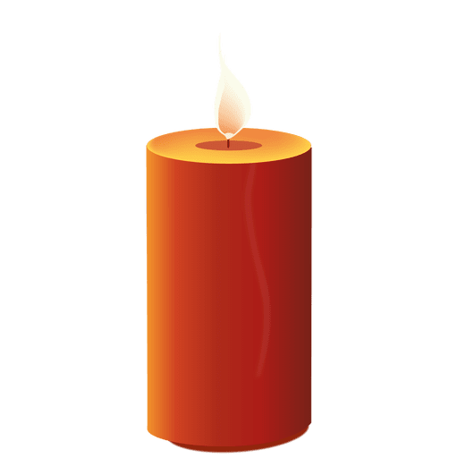 svg royalty free download Transparent candle. Glossy red light png