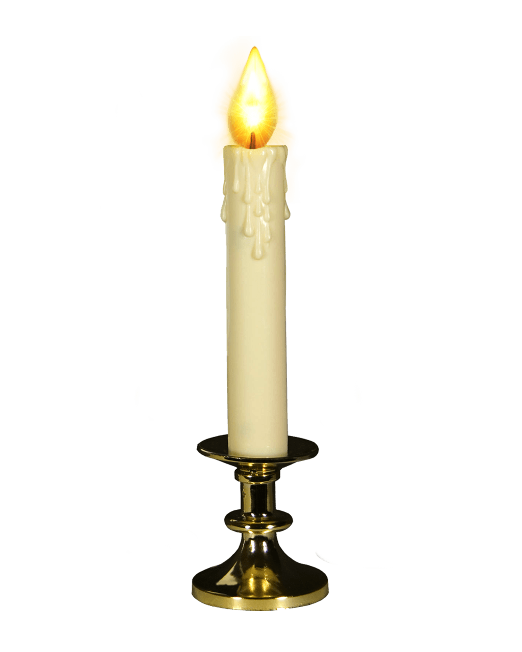 transparent candle